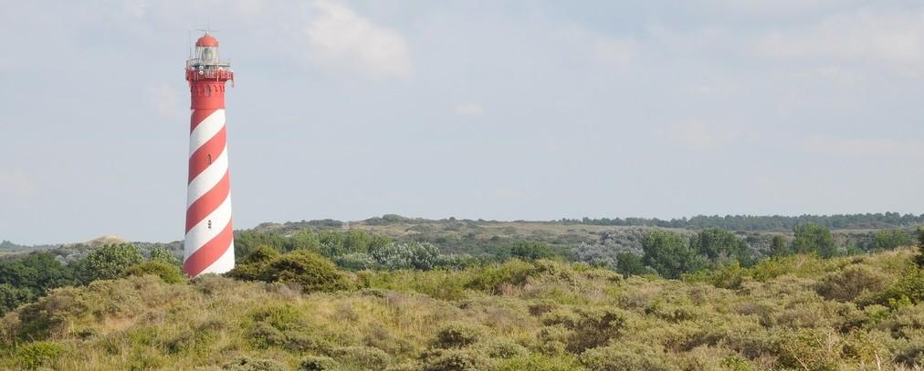 Leuchtturm und Dünen in Zeeland
